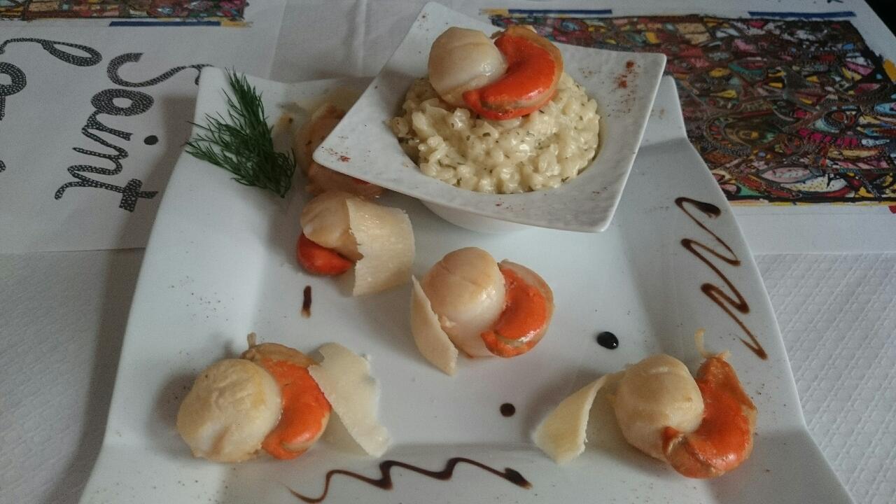 risotto noix de saint jacques