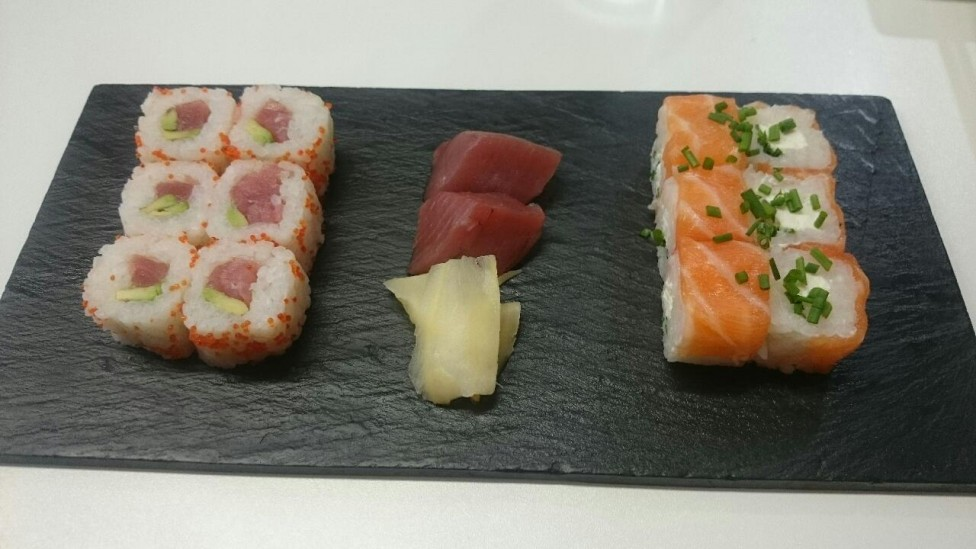 maki et sashimi de thon