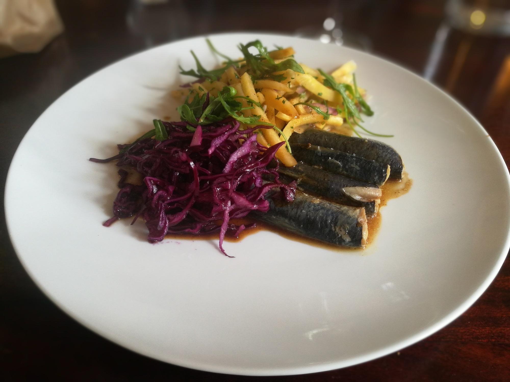 Sardines, Navet boule d'or, Chou rouge