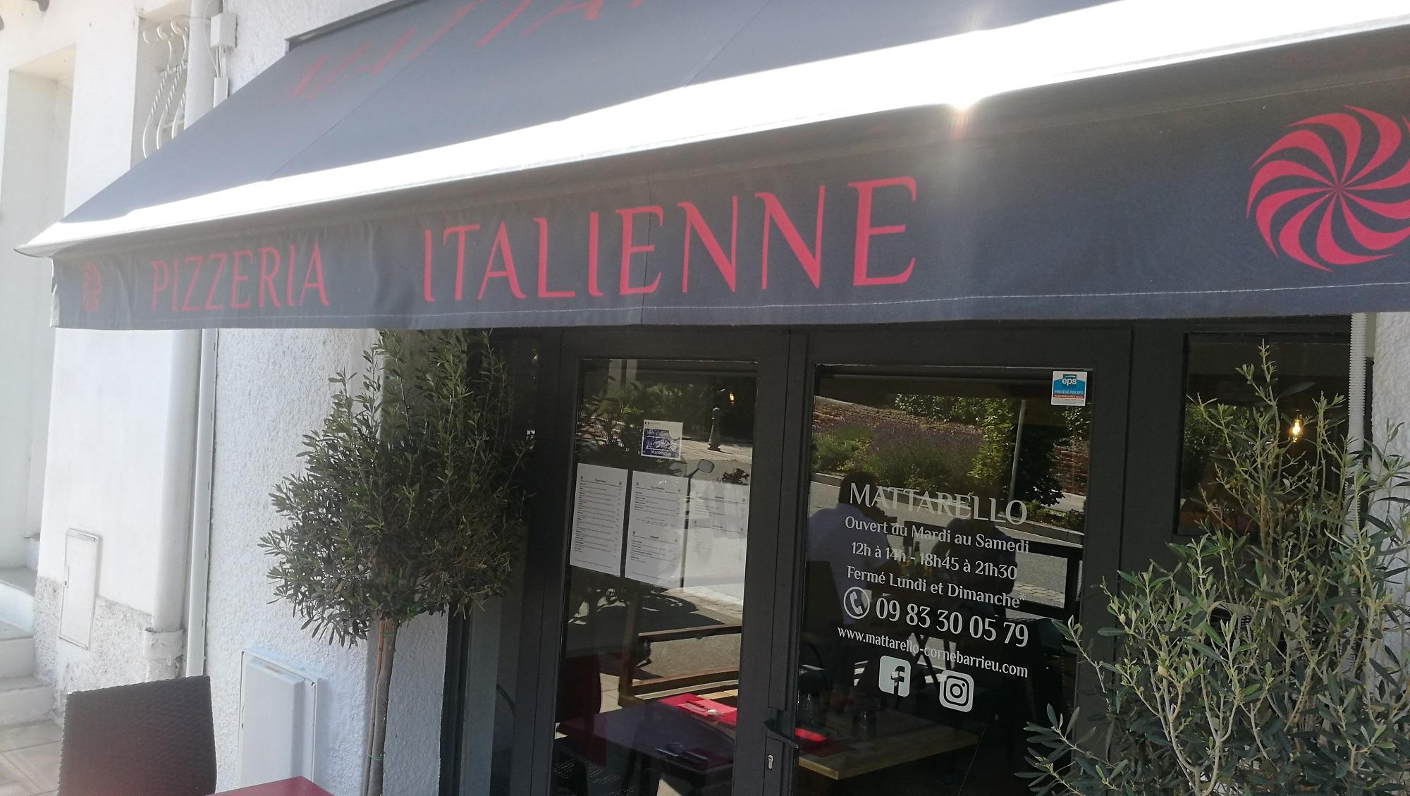 Restaurant italien Pizzeria Mattarello Cornebarrieu